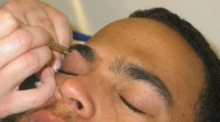 Eyebrow Shaping IN PROCESS